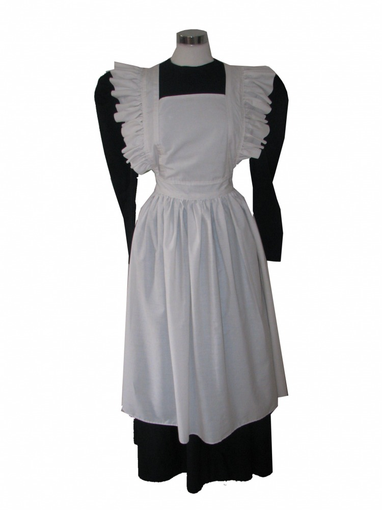 Ladies Victorian Edwardian Maid Costume With Mop Hat Size