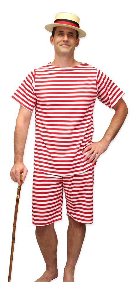 Men S Victorian Edwardian Bathing Suit Complete Costumes