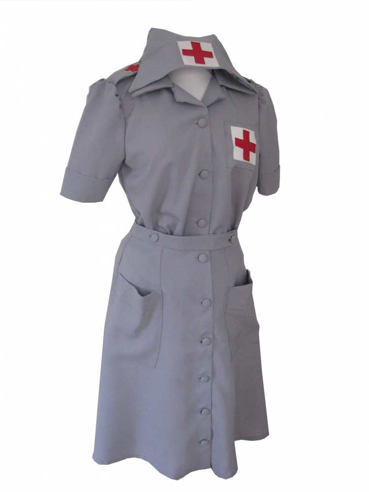 Ladies 1940s Wartime G I Nurse Costume Size 14 - 16 Image