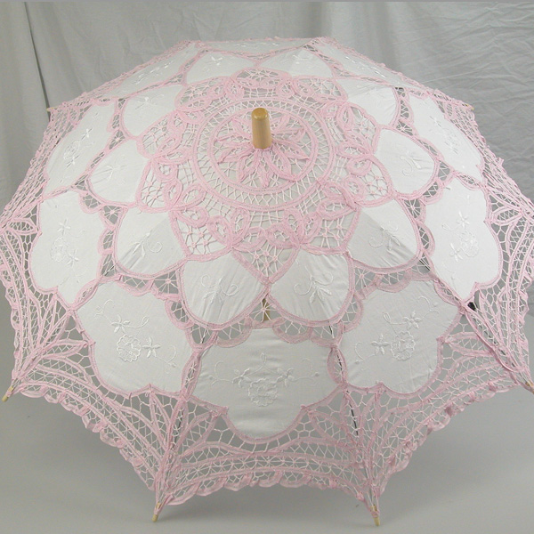 Ladies White And Pink Lacy Handmade Regency Victorian ...