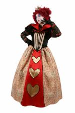 Ladies Queen Of Hearts Costume Size 10 - 12