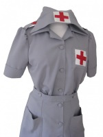 Ladies 1940s Wartime G I Nurse Costume Size 14 - 16