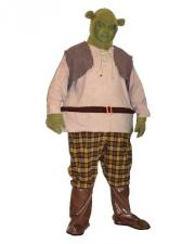 Men's Medieval Hooped Ogre 'Shrek' Costume