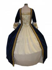 Deluxe Ladies 18th Century Marie Antoinette Masked Ball Costume Size 10 - 12
