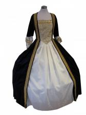 Deluxe Ladies 18th Century Marie Antoinette Masked Ball Costume Size 8 - 10
