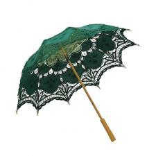 Ladies Green Lacy Handmade Regency Parasol