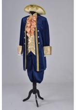 Deluxe Men's 18th Century Masked Ball Costume Size XL