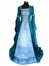 Deluxe ladies Medieval Renaissance Costume And Headdress Size 12 - 14