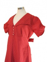 Ladies 1940's Style Tea Dress Wartime Goodwood Costume Size 14 - 16