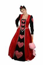 Ladies Queen of Hearts Fancy Dress Costume Size 16 - 18